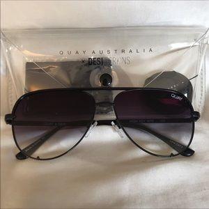 Accessories - Quay x Desi High Key Sunglasses